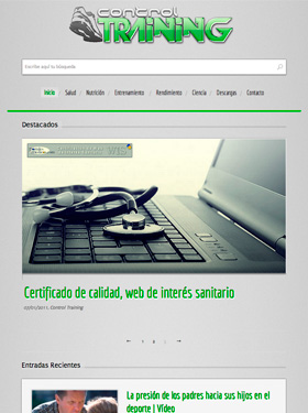 Branding y desarollo web WordPress Control Training