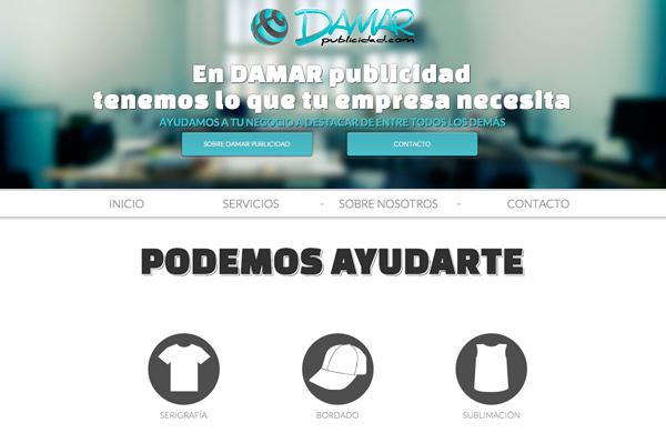 Diseño web e imagen corporativa DAMAR publicidad