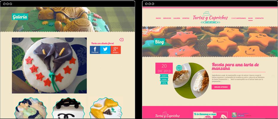 Diseño y desarrollo personalizado en WordPress para Tartas y Caprichos